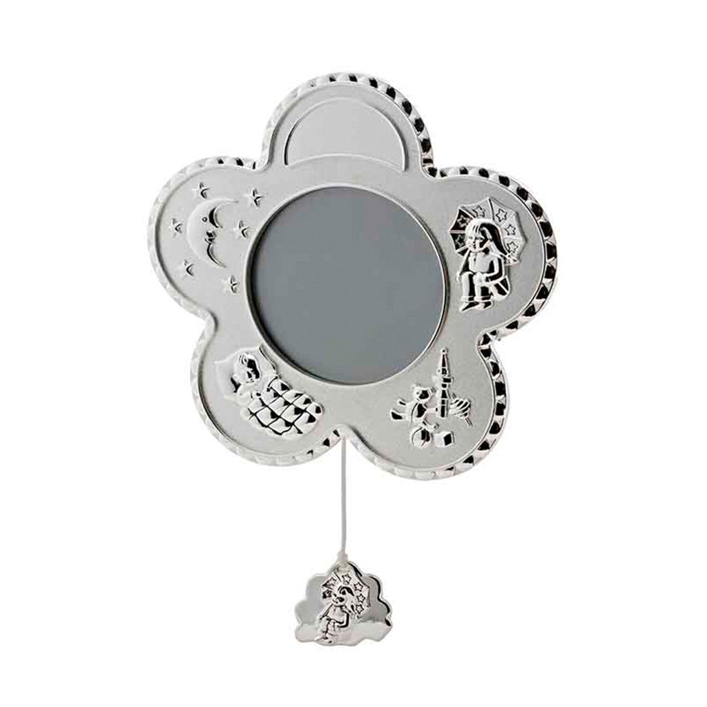 Frazer & Haws 92.5 Silver Plated Musical Photo Frame - Flower