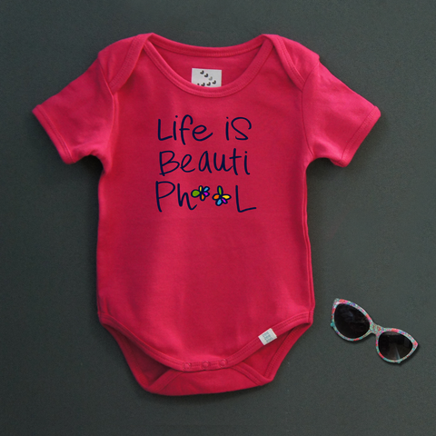 Beautiphool (Pink)- Organic Cotton Onesie
