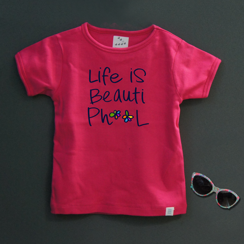 Beautiphool (Pink)- Organic Cotton Tees for Toddlers