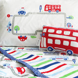 """Bundle of Joy"" Busy Street Single Bedsheet Set"