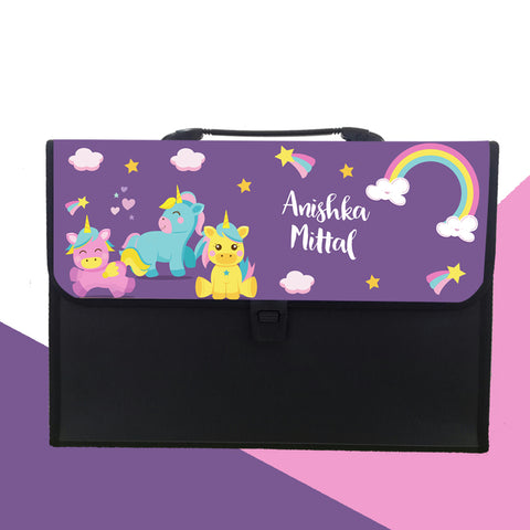 Personalised Folder - Baby Unicorn
