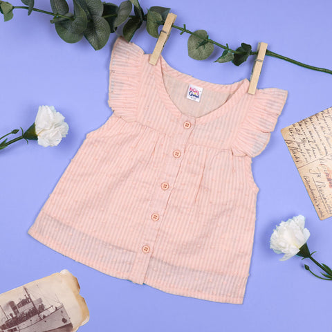 Baby Pink Buttoned Top (3-24 Months)