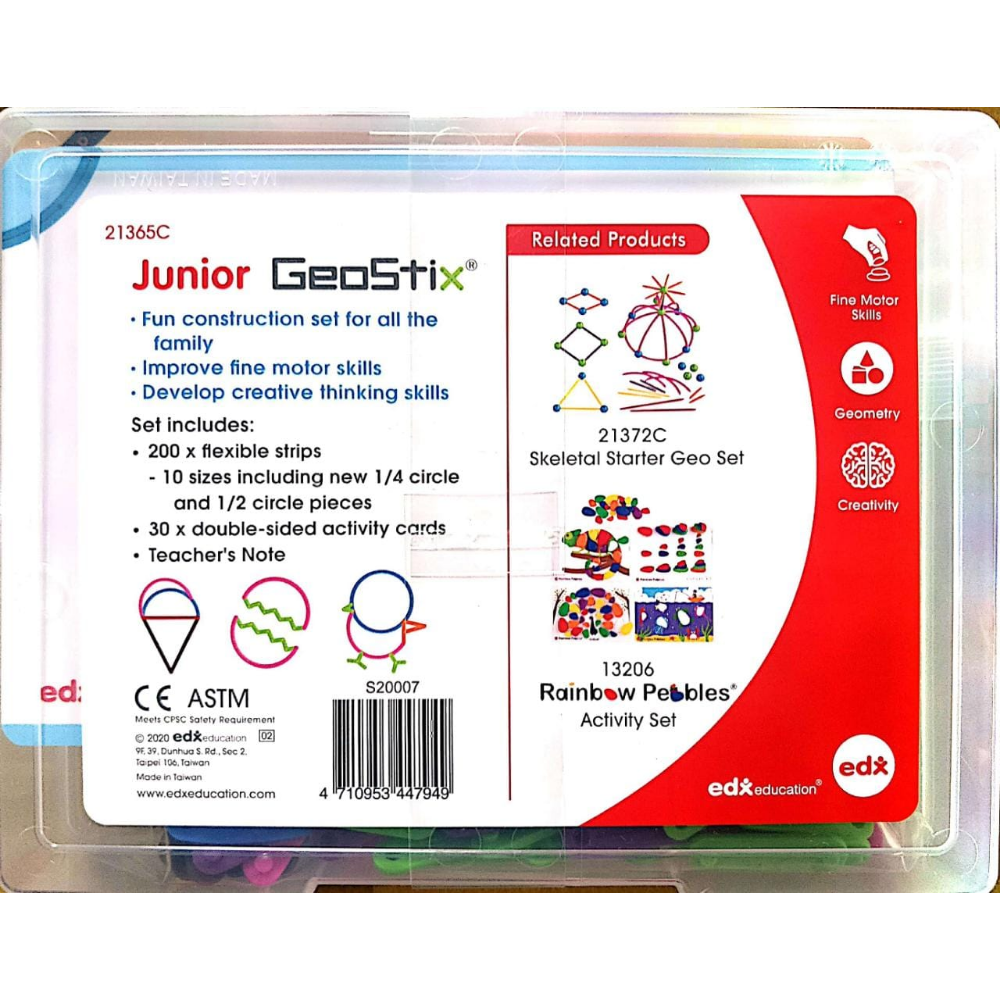 Junior Geostix (200 flexible sticks, 30 double-sided Activity cards)
