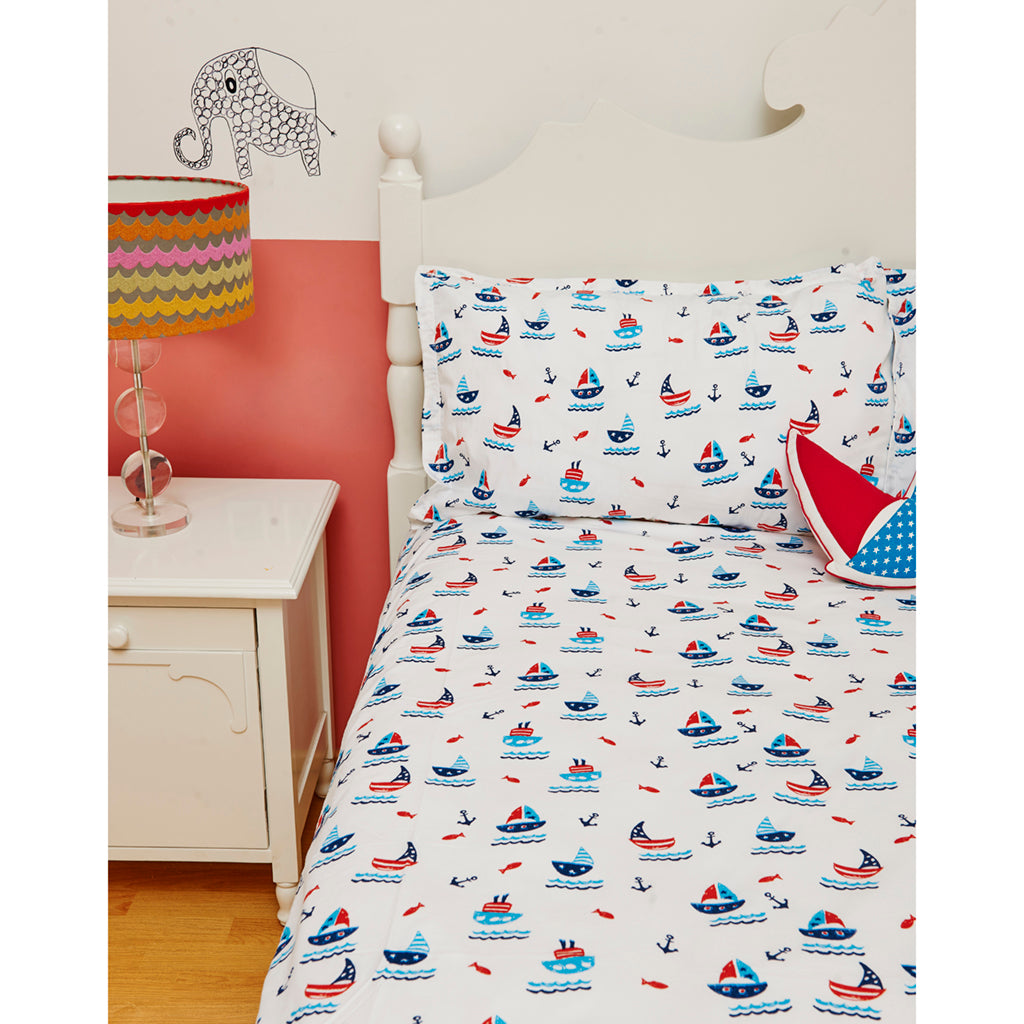 Bedsheet Set - Boat, Single/Double Bed Sizes Available