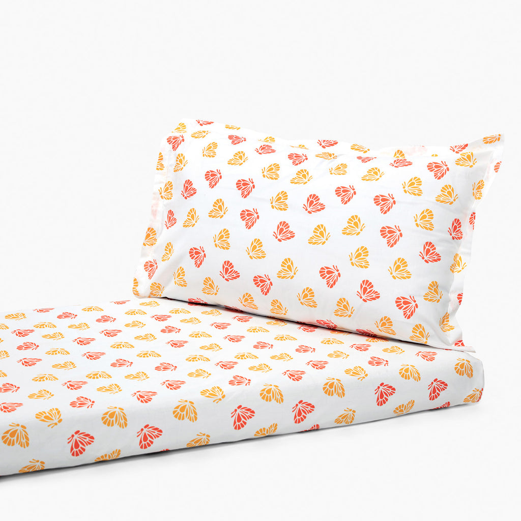 Bedsheet Set - Butterfly, Single/Double Bed Sizes Available