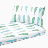 Bedsheet Set - Foliage, Single/Double Bed Sizes Available