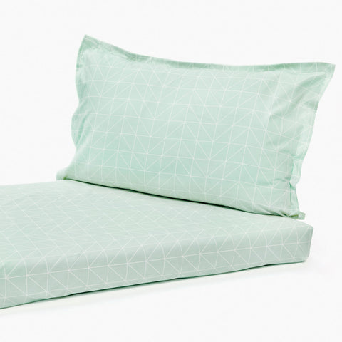 Bedsheet Set - Line Art, Single/Double Bed Sizes Available