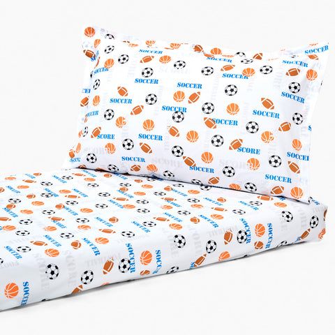 Bedsheet Set - Soccer, Single/Double Bed Sizes Available