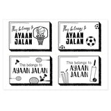 Transparent Labels - Sports (Pack of 32)