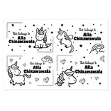 Transparent Labels - Unicorn (Pack of 32)