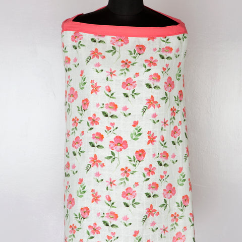 Blossoms Organic Muslin Nursing Cover