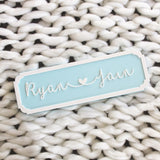 Name Plaque - Cursive, Blue