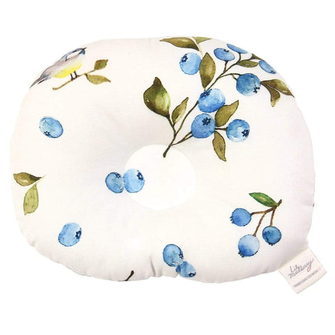 Blueberry & Bird Infant Pillow