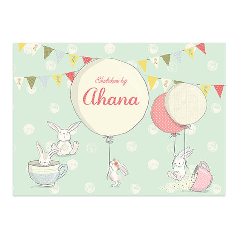 Personalised Sketch Book & Crayon Set <br> Bunny