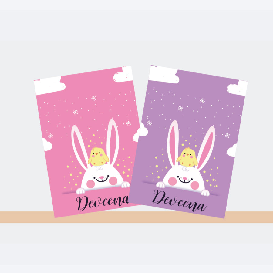 Personalised Notebooks - Bunny, Set of 2