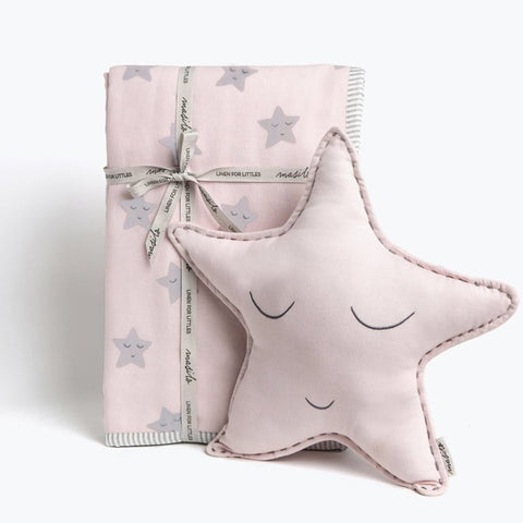 "Tuck Me In Gift Bundle <br> Pink Star<br><span style=""font-size: 10px;"">Can be Personalised</span>"