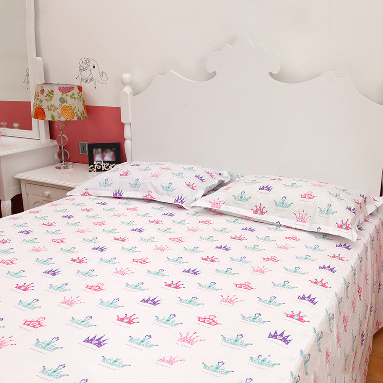 Bedsheet Set   Crown, Single/Double Bed Sizes Available