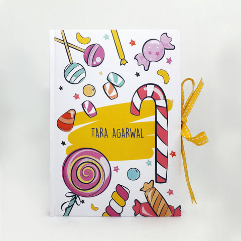 Personalised Notebook (A5 Size)- Candyland