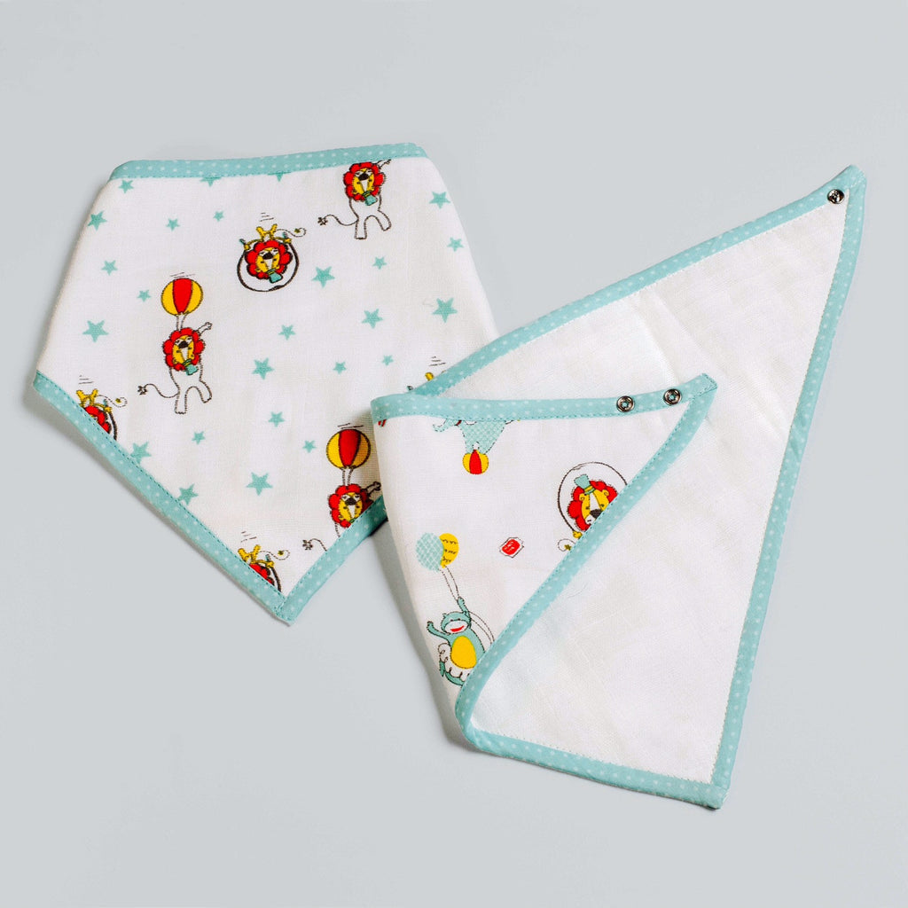 Circus Circus Bandana Bibs, Set of 2