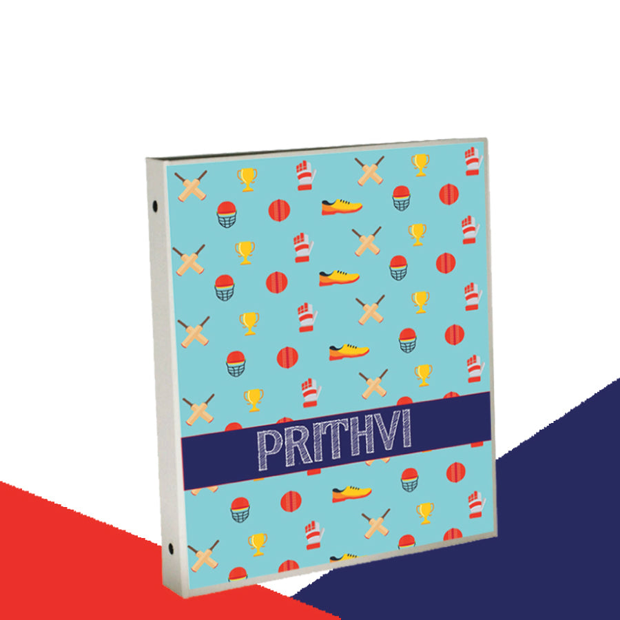 Personalised Binder - Cricket