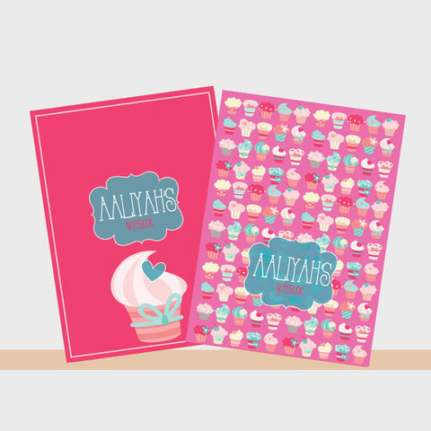 Personalised Notebooks - Cupcake, Set of 2