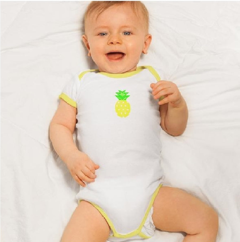 Organic Cotton Bodysuit - Pineapple and Cupcake, Pack of 2