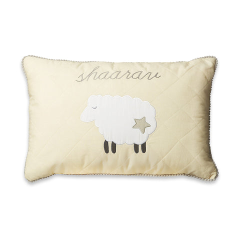 Masilo Personalised Throw Cushion Cover with filler  - Counting Sheep (Cream)