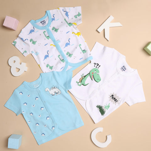 Kicks & Crawl- Cute Dino Everyday Essentials - Pack of 3 (NB, 0-24)