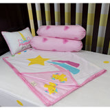 Little By Little Unicorn World Cot Bedding Set with Dohar Blanket, Pink