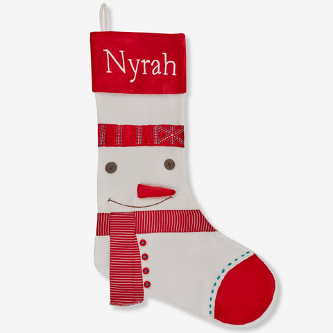 Personalised Stocking - Dashing Snowman