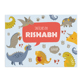 Personalised Sketch Book & Crayon Set - Dinosaur