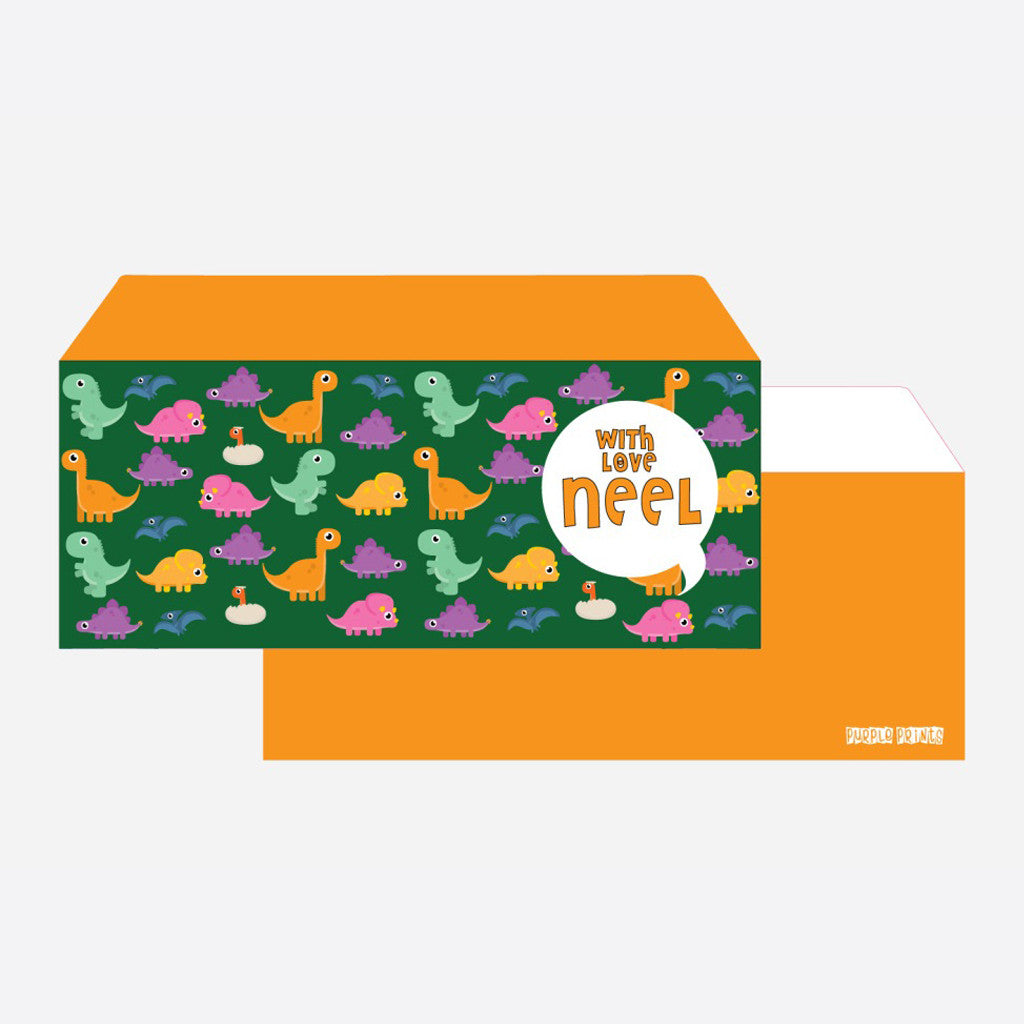 Personalised Envelopes - Dino, Set of 24
