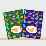 Personalised Notebooks - Dino, Set of 2