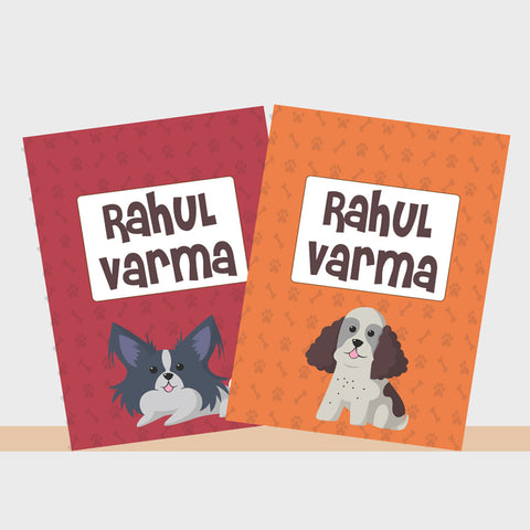 Personalised Notebooks - Doggy Love, Set of 2