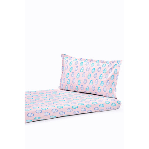 Bedsheet Set - Dolls, Double Bed Size