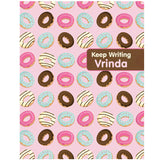 Personalised Writing Practice Books - Donuts, Set of 2