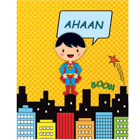 Personalised Writing Practice Books - Superboy, Set of 2