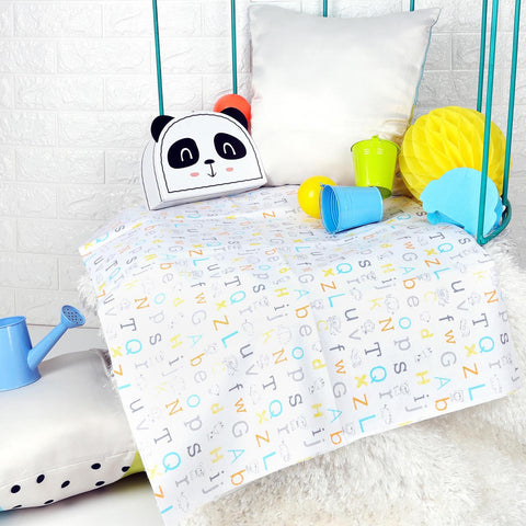 Kicks & Crawl - Easy Alphabet Waterproof Bed Sheet