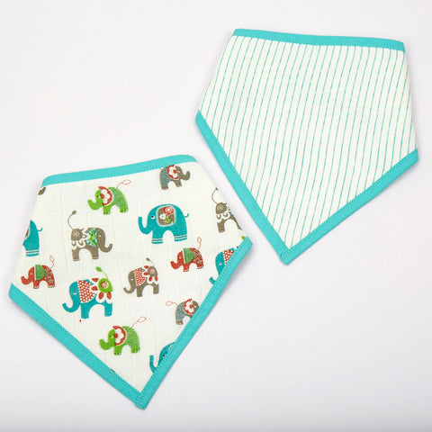 Ella Bandana Bibs, Set of 2
