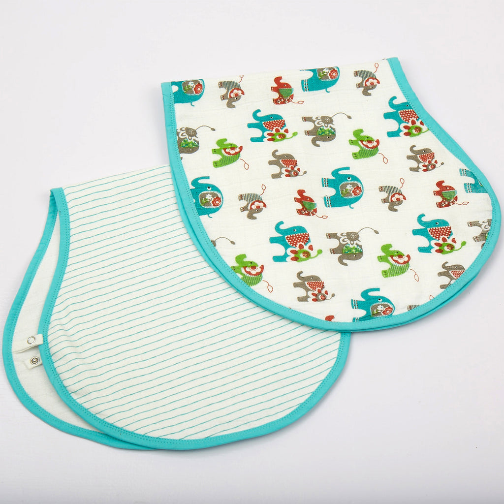 Ella Muslin Burp Cloths, Set of 2