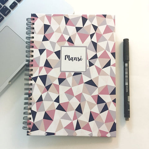 "Personalised ""Forever"" Reusable Notebook - Geometric, Pastel"