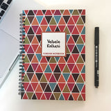 "Personalised ""Forever"" Reusable Notebook - Geometric, Bright"