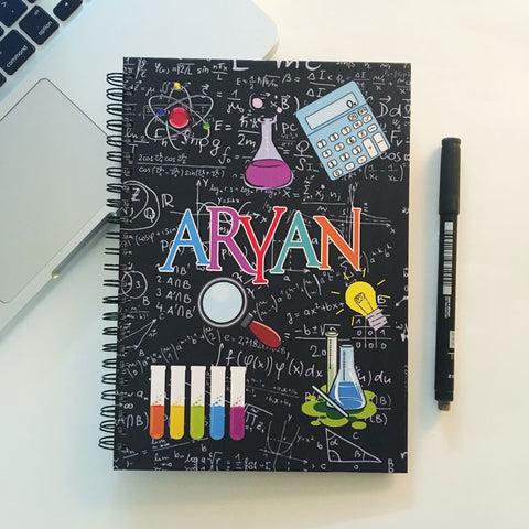"Personalised ""Forever"" Reusable Notebook - Crazy Scientist"