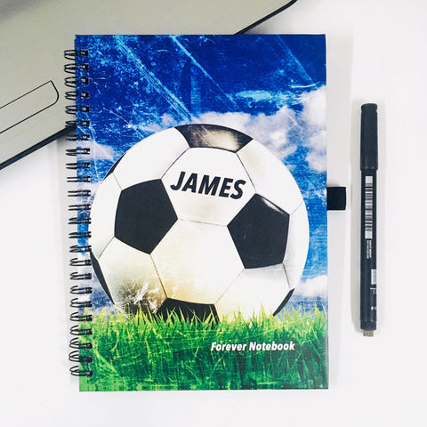 "Personalised ""Forever"" Reusable Notebook - Football"