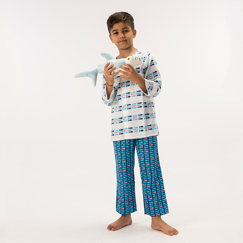 Kid's Pyjama Set - Fish