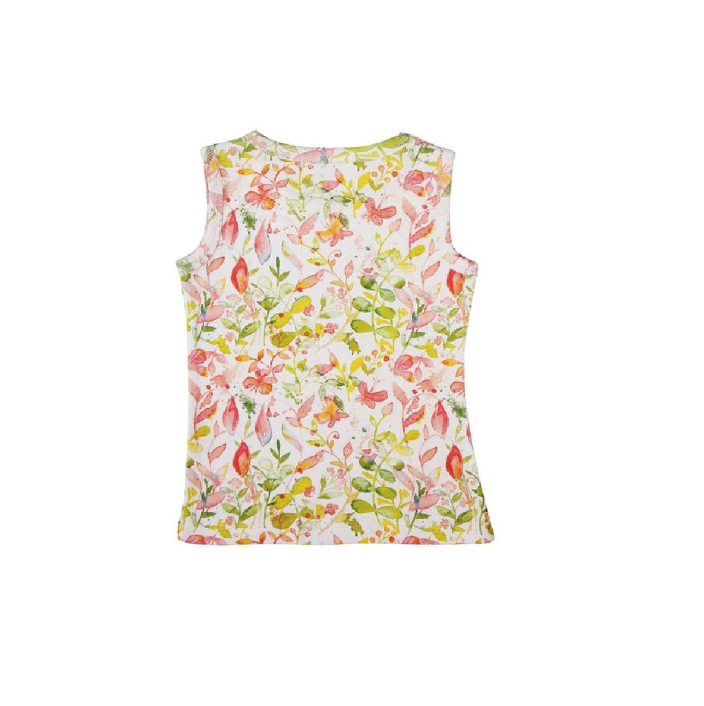 Organic Tank Top ( Girl) - Floral Fun