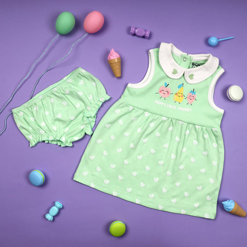 Fruity Friends Sleeveless Dress (NB, 0-24M)