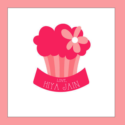 Personalised Gift Stickers - Cupcake, Pack of 24
