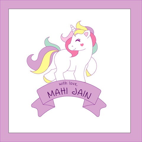 Personalised Gift Stickers - Unicorn, Pack of 24