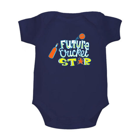 Future Cricket Star <br> Organic Cotton Onesie, Can be Personalised
